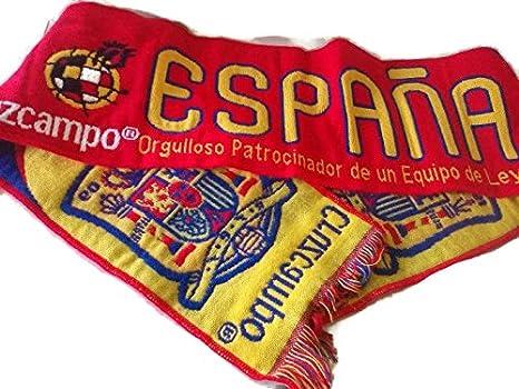 Bufanda España Cruzcampo Patrocinador: Amazon.es: Deportes y aire ...