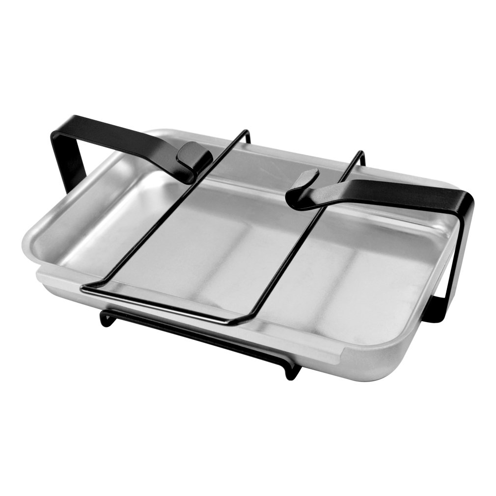 Stanbroil Aluminum Gas Grill Catch Pan and Holder/Grease Collection Pan Replacement Parts for Weber 7515 by Stanbroil
