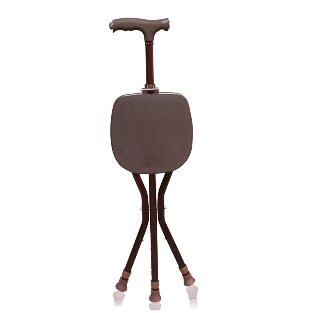 【送料無料キャンペーン?】 折り畳み式 B07LF98QQW 軽量 折りたたみ 三脚チェア 3脚杖, 折りたたみ 高さ調節可能 三脚チェア 歩行補助杖 と Ledライト 松葉杖-褐色 B07LF98QQW, わいわい工房:6f5ebcb8 --- a0267596.xsph.ru