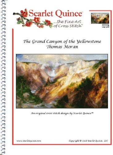 Regular Size Symbols Scarlet Quince MOR003 The Grand Canyon of the Yellowstone by Thomas Moran Counted Cross Stitch Chart