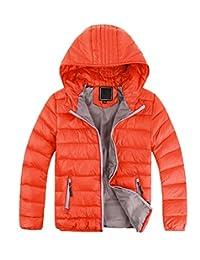 EkarLam Kids Boys Winter Chic Hooded Lightwear Outwear Down Jacket Coat
