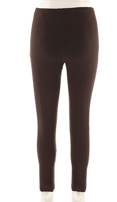Women with Control Fit Pull-On Knit Leggings Elastic Black RegularL NEW A235949