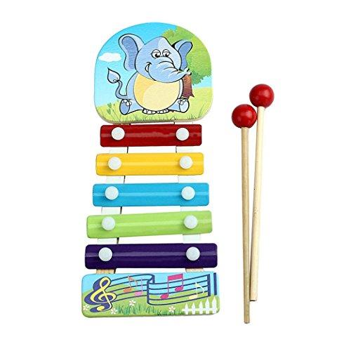 - Yoyorule Baby Kid Musical Toys Xylophone Wisdom Development Wooden Instrument (Elephant)