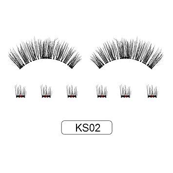 8d6b1b728b1 Amazon.com : BlioKiu Magnetic False Eyelashes Sticky-free Handmade Black False  Eyelashes False Lashes : Beauty