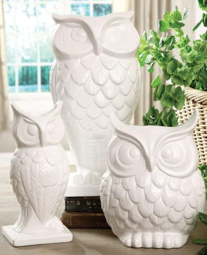 Home Decorators Collection Owl Vase, Tall, White