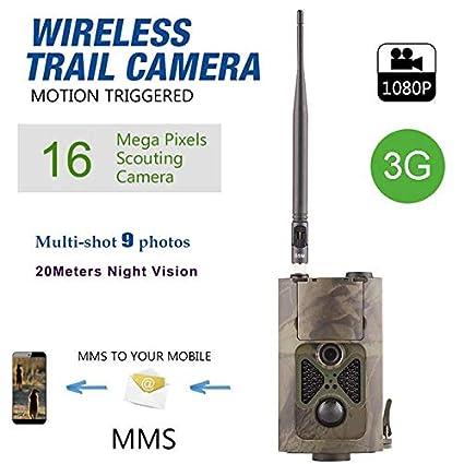 3G 16MP HD lleno Trailcamera HC-550 G 48 LED Negro desencadenar 0,5