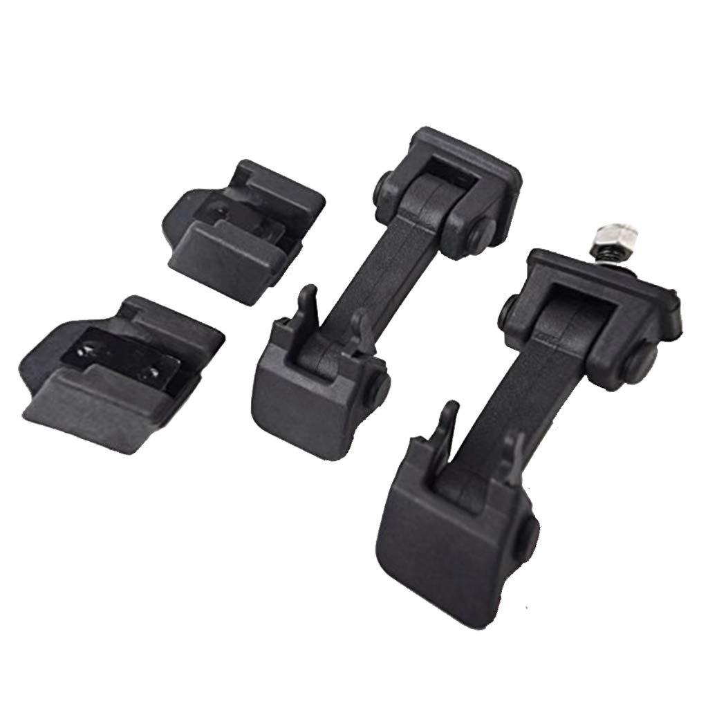Sidougeri 2 chiusure per cofano auto in ABS per Wrangler JK Unlimited accessori Lock Protect 2007-2016