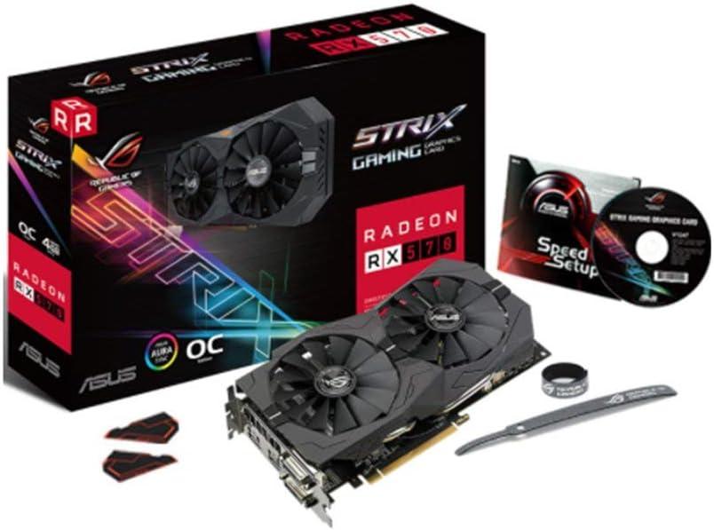 ASUS ROG Strix Radeon RX 570 O4GゲーミングOCエディションGDDR5 DP HDMI DVI VRレディAMDグラフィックスカード(ROG-STRIX-RX570-O4G-GAMING)