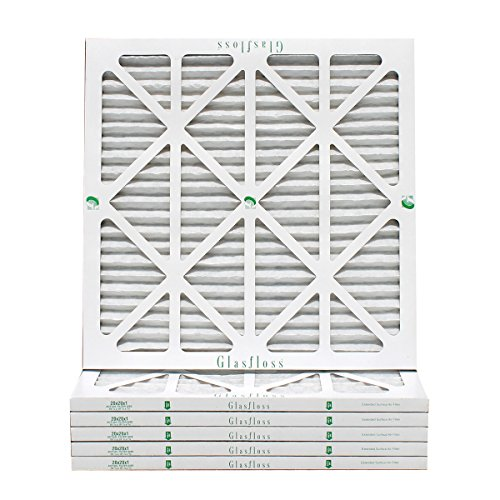 20x20x1 Air Filter 6-Pack, Pleated MERV 10 By Glasfloss - Removes Dust, Pollen and Many Other Allergens - Made in USA