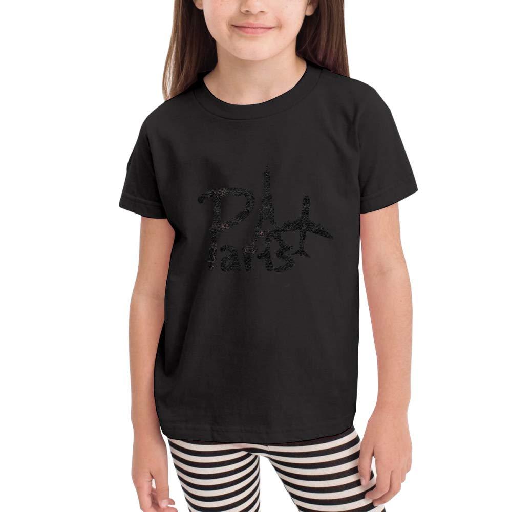 Travel Eiffel Tower Paris Kids Crew Neck 100% Soft Cotton Short Shirts Tees T-Shirts