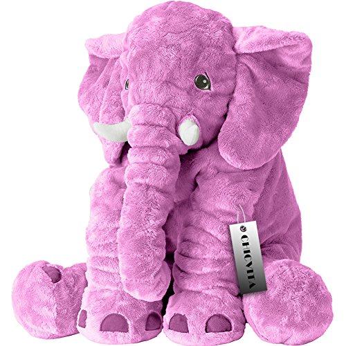 CHICVITA Purple Large Stuffed Elephant Plush Animals Toys, 24 Inches Cushion Plush Toy
