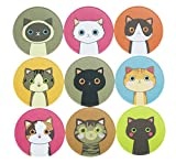 90 Lovely Kitty Cat Stickers for School Office Party Home Holiday Decoration 10 sheets