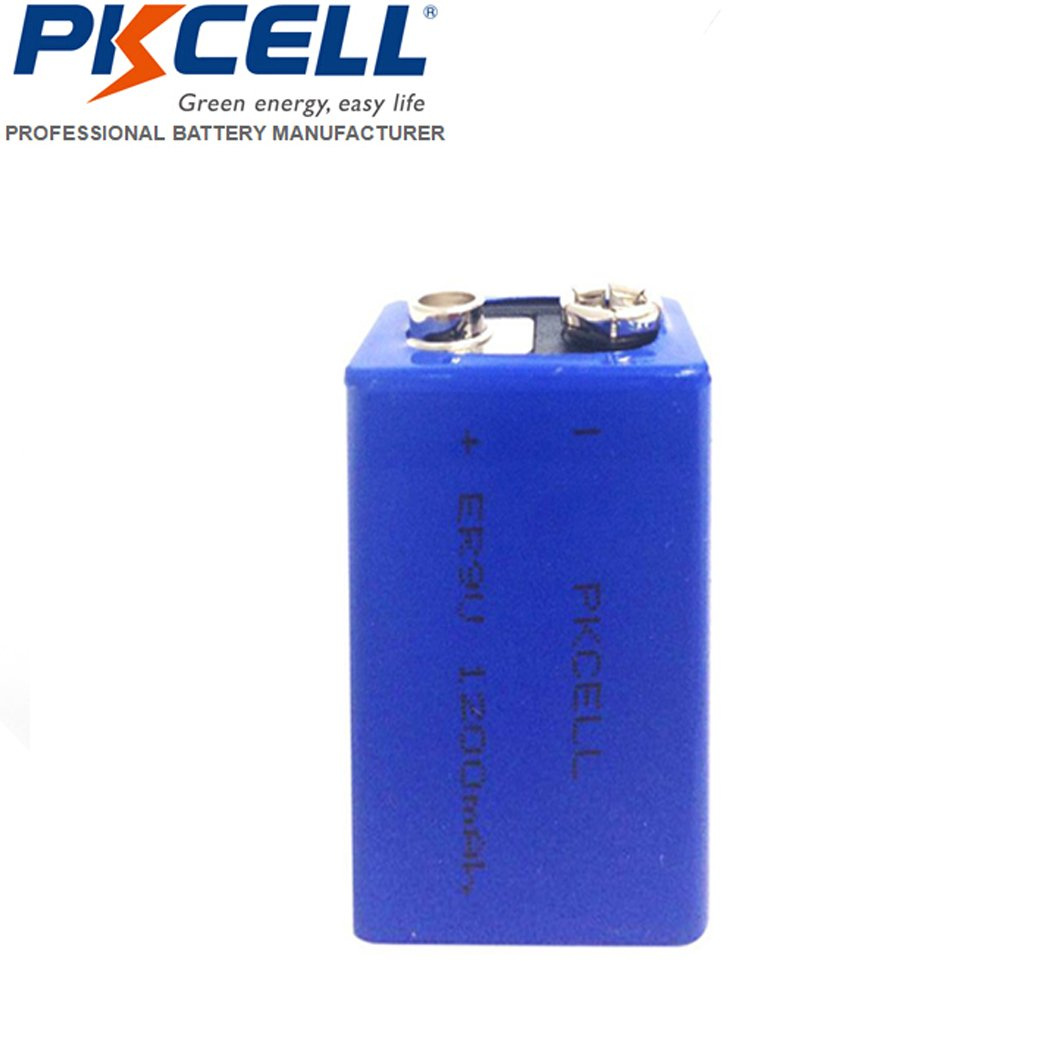 9V 1200mAh Lithium Li-SOCl2 High Capacity Battery (1) PKCELL