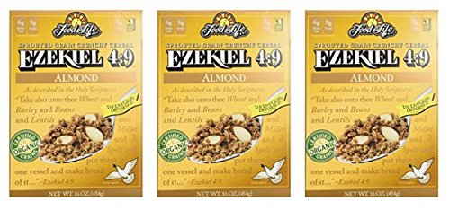 Food For Life Ezekiel 4:9 Sprouted Grain Cereal Almond 16oz (Pack of 3)
