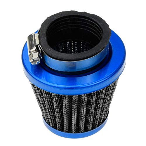 Pit Coolster Bikes - HIAORS Motorcycle 38mm Air Filter for SSR 125 125cc 110cc Coolster CRF Dirt Pit Bike GY6 50cc Scooter Moped QMB139 Engine Parts Blue