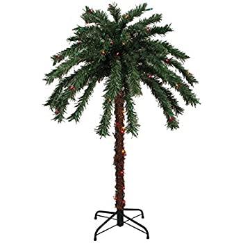 This Item Sienna Pre Lit Tropical Outdoor Summer Patio Palm Tree With  Multicolored Lights, 4u0027