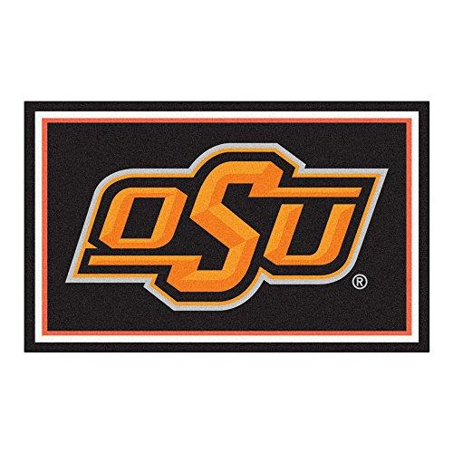 Fanmats NCAA Oklahoma State University Cowboys Nylon Face 4X6 Plush - Oklahoma State Plush