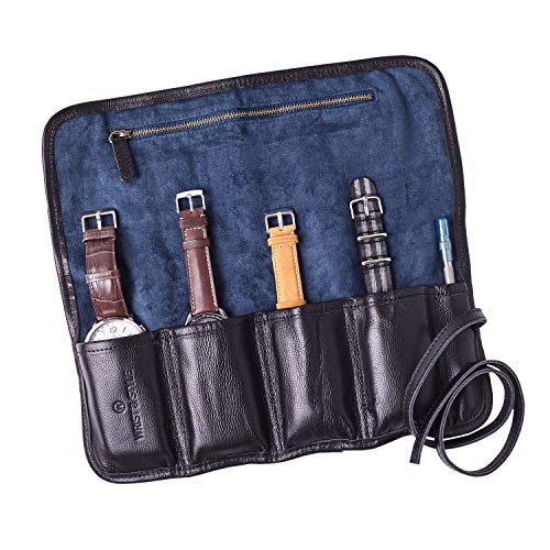Leather Watch Roll by W&S for Travel and Storage for for sale  Delivered anywhere in USA