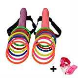 Hen Night Bachelorette Party Favor Girls Night Out Ring Toss Hoopla Games Set (2pcs)