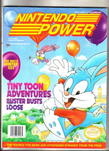 Nintendo Power Magazine - Tiny Toon Adventures (Volume 46)