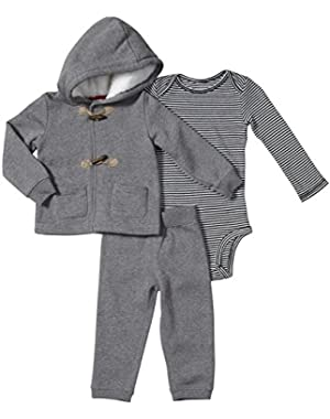 Baby Boys' 3 Piece Holiday Set (Baby) - Heather