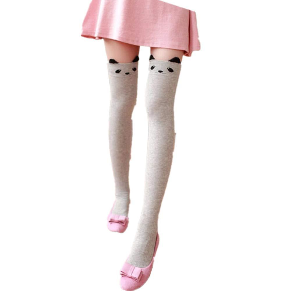 FOANA Donna Inverno Gatto Orso Panda lavorato a maglia sopra al ginocchio Stivale caldissimo Ragazza adolescente cartone animato Tubo alto isolamento Sopra le calze al ginocchio