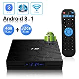 Android TV Box, T9 Android 8.1 TV Box 4GB RAM/32GB ROM RK3328 Quad-Core