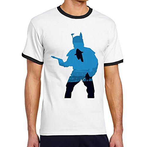 ALIZISHOP1 Men's Star Logo Cotton Hit Color Short Sleeve T Shirts]()
