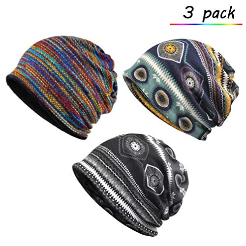 bfbe5e47523 Sytaitp Chemo Caps Slouchy Beanie Hat Scarves for Women Cancer Patient Sleep  Headwear Hair Loss 3pack