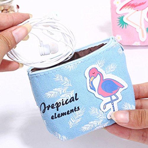 Bluelans Fashion Cartoon Flamingo Kleine Tasche Tasche Geldbörse Portemonnaie Kleingeld Zero Geschenk, canvas, 3#, 11.5cm x 8cm x 3.5cm/4.53 x 3.15 x 1.38 4#
