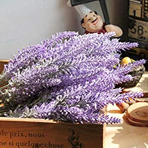 Romantic Provence Lavender Flower Silk Artificial Flowers Plants Wedding Home Garden Table Decoration 89