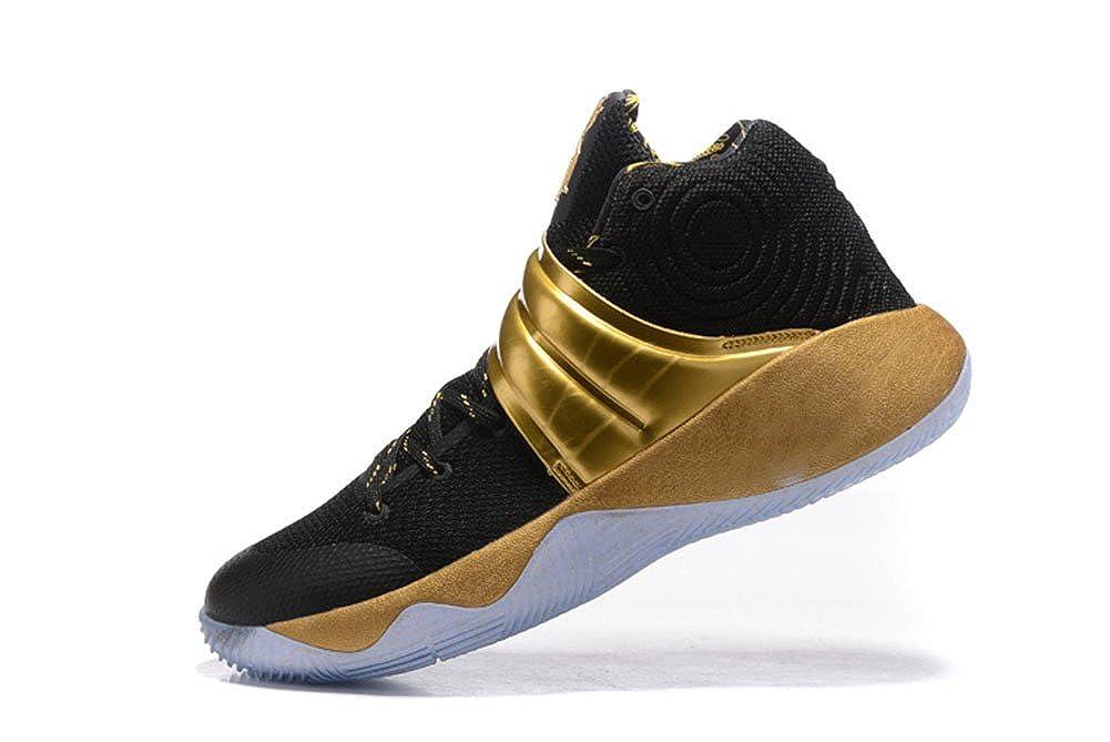 low priced e490a 2e991 Amazon.com | Kyrie 2 Black Gold High-Top Men's Casual ...