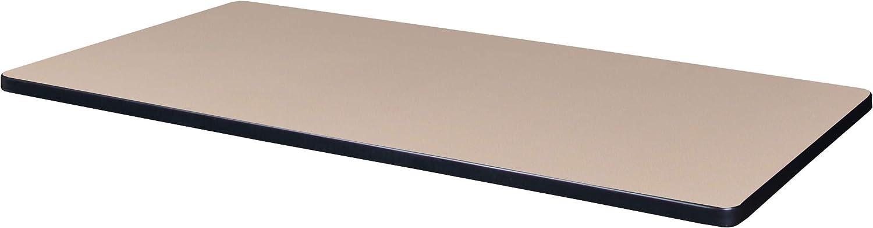 Regency Rectangular Standard Table Top, 42 x 24, Beige/Grey