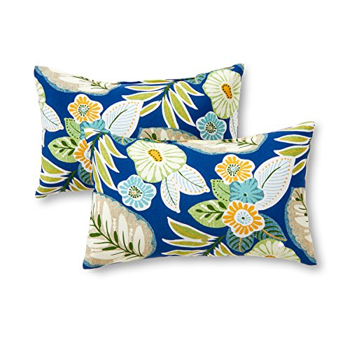 Greendale Home Fashions Rectangle Outdoor Accent Pillow (set of 2), Marlow (Outdoor Cushions Pillows And)