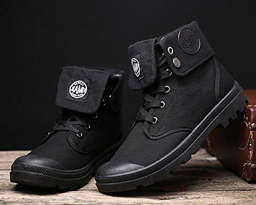 Minetom Botas Invierno Martin Retro Lazada Anti Zapatos Negro Hombre A Nieve deslizante Invierno Botines Boots Otoño Botas de Moda rOtqrnwp