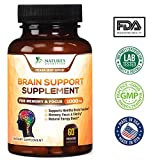 Neuro Brain Support Supplement for Memory, Focus, Energy & Clarity - Scientifically Formulated Nootropic for Mental Performance with Bacopa, DMAE, L-Glutamine, Vitamins & Minerals - 60 Veg Capsules