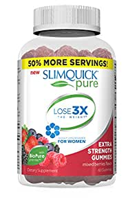SLIMQUICK Pure Mixed Berry Gummies Weight Loss Supplement, 60 Count