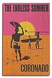 Coronado, California - The Endless Summer - Original Movie Poster (10x15 Wood Wall Sign, Wall Decor Ready to Hang)