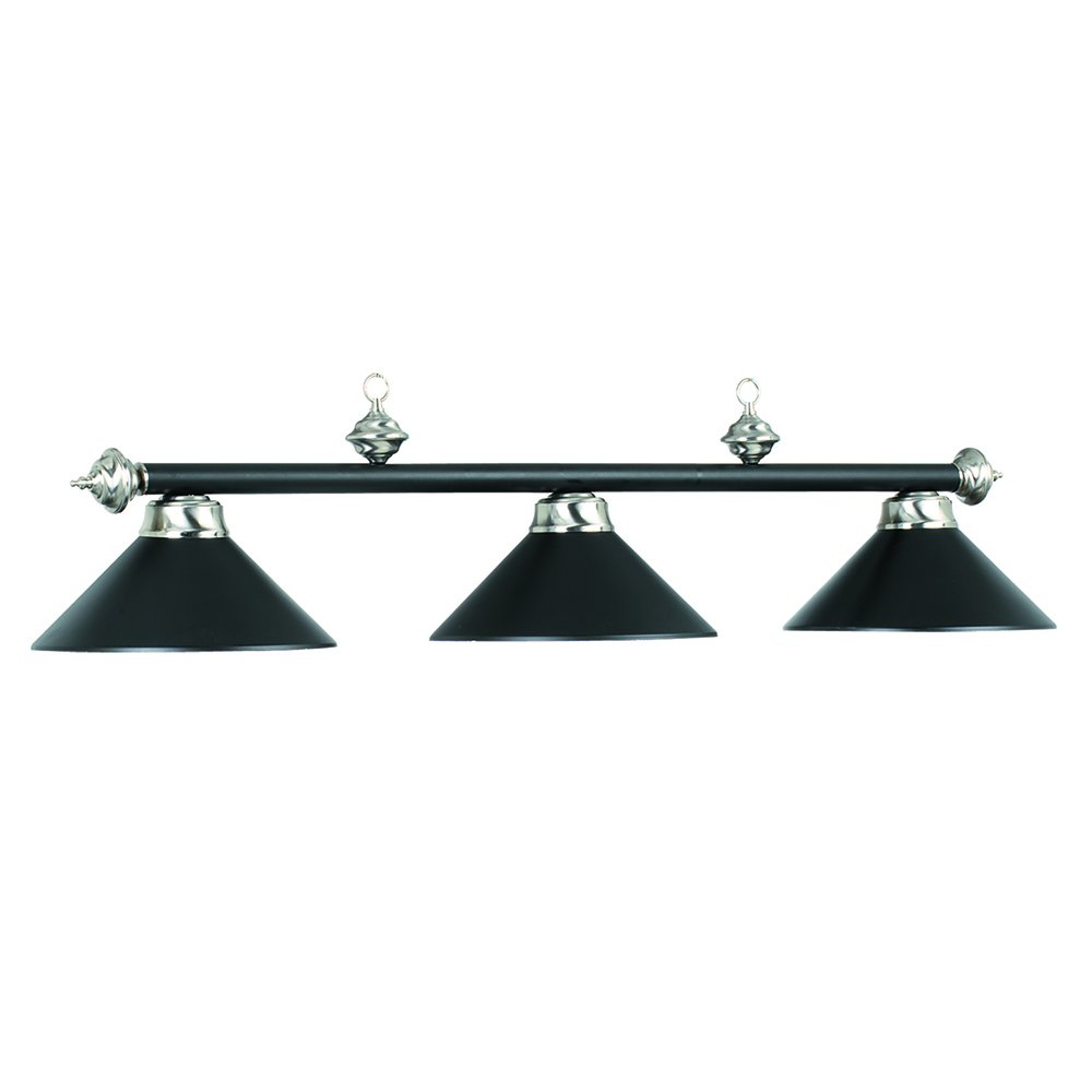 54'' 3 Lamp Hanging Pool Table Light - Matte Black