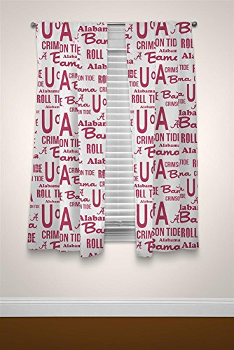 Alabama Crimson Tide Window Curtain Panels - Set of 2 with Tie Backs