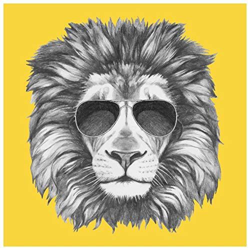 Amazon Com Lion Portrait Wearing Sunglasses Fun Animal Wall Mural