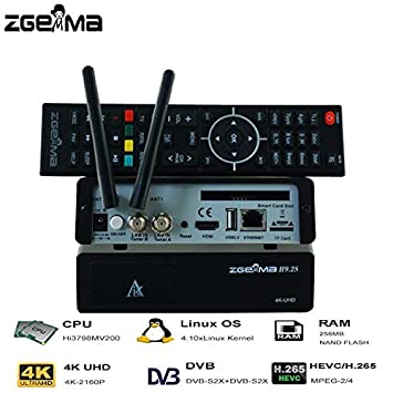 ZGEMMA H9 2S 4K UHD Satellite Receiver (With 1 Month Free IPTV) Twin  DVB-S2X Tuners and In-Built WIFI