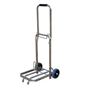 DELLT- Remolque hecho a mano de acero inoxidable Pequeña carretilla de equipaje de la carretilla