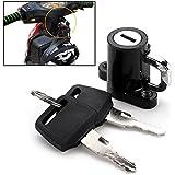 Universal Motorcycle Motorbike Bike Helmet Lock Hanger Hook + 2 Keys Locking Set Durable