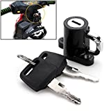 Universal Motorcycle Motorbike Bike Helmet Lock Hanger Hook + 2 Keys Locking Set Durable