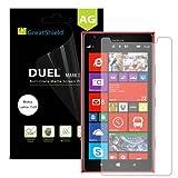 GreatShield(™) Nokia Lumia 1520 [DUEL Mark II] Anti-Glare (Matte) Screen Protector Shield - 3 pack - Lifetime Replacement Warranty