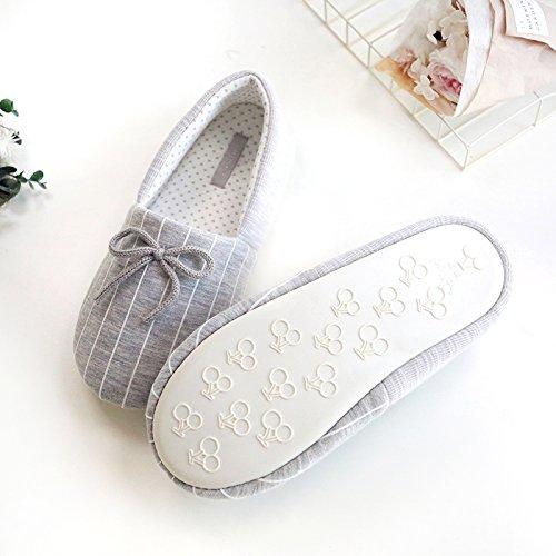 Slippers Slip Cozy Cotton Non Soles w Foam House Womens Grey Memory xTgaHaO