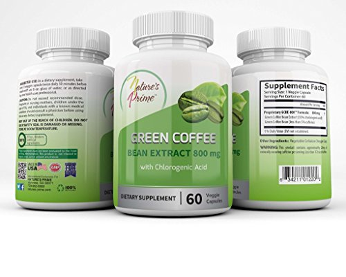 Sort's Prime Green Coffee Bean Extract 800 mg - Veggie Capsules - Kosher, Halal - All Natural Weight Loss, 60 count - LIMITED TIME Hoarding!!