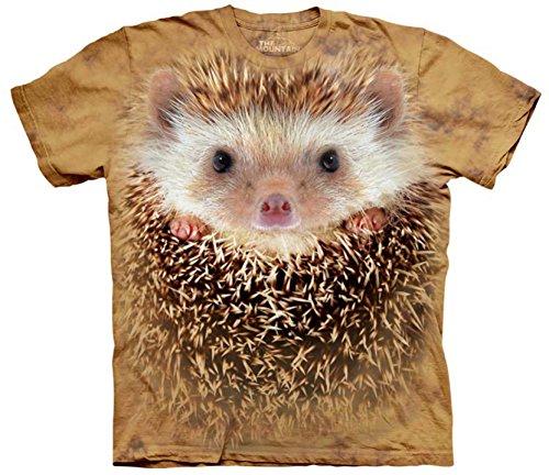 The Mountain Adult 100% Cotton Big Face Hedgehog Realistic T-Shirt (Orange, 3XL) (Adult Hedgehog)
