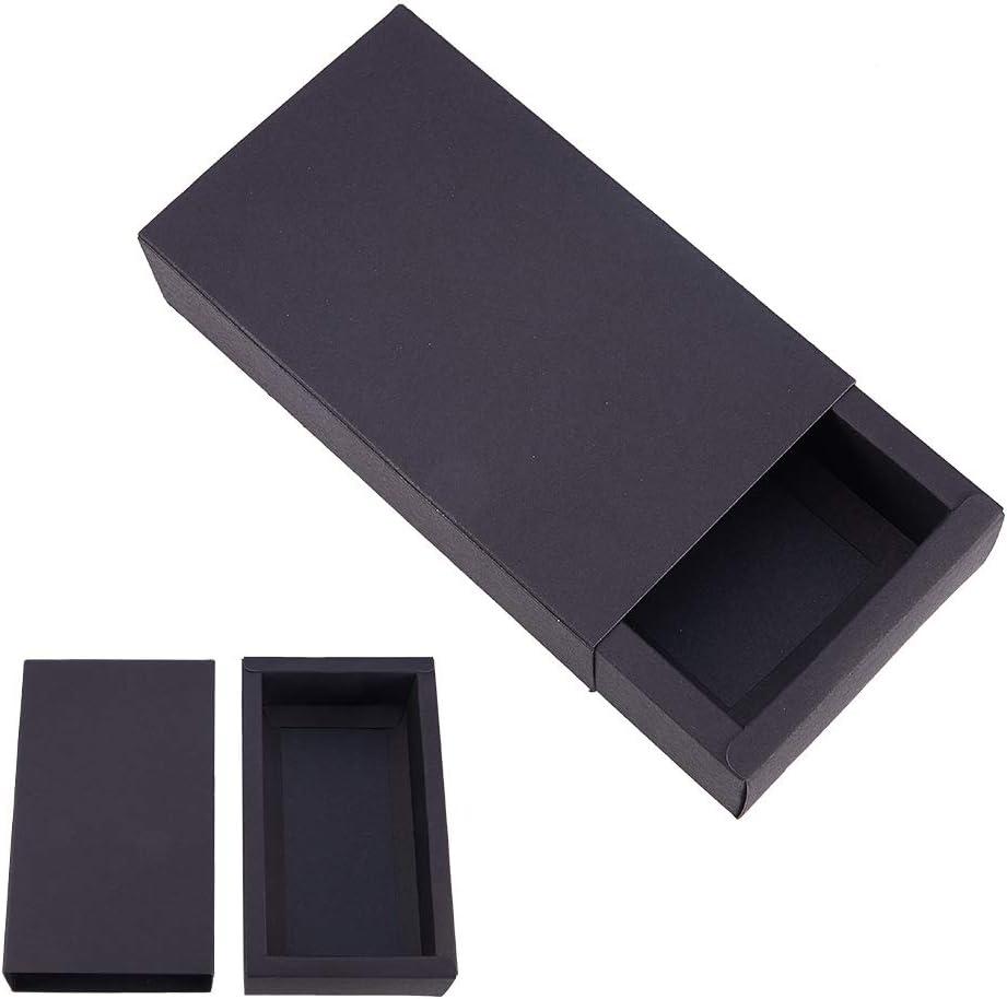 BENECREAT 16 Pack Caja de Cartón Kraft Cajas de Regalo para Fiesta Superior Envase de Joyería - Negro 17.2x10.2x4.2cm